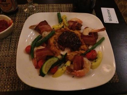 filet mignon with shrimp... what a joke