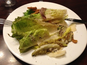 my pretentious deconstructed grilled caesar salad