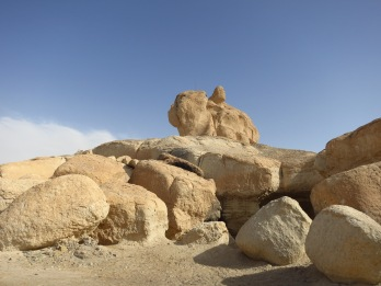 Woman With Child Caves in Al Hasa
